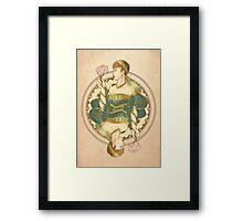 Queen Noveau Framed Print