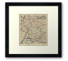 July 25 1945 World War II Twelfth Army Group Situation Map Framed Print