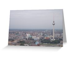 Berlin TV Tower and view of the city Greeting Card