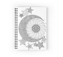 Tangled Sun, Moon and Stars Spiral Notebook