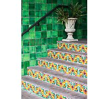 Tile In Green Photographic Print