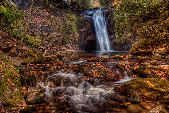 Courthouse Falls, North Carolina by Photography by James Hoffman