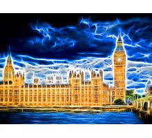 Big Ben and Houses of Parliament with Thames Photographic Print