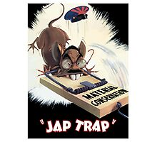 Material Conservation - Jap Trap - WW2 Photographic Print