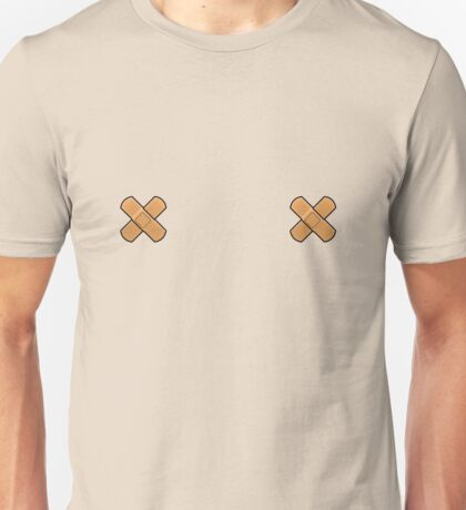 Bandaged sore nipples! Unisex T-Shirt