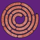 A spiral of pink sausages. by Zern Liew