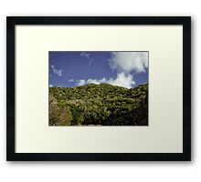 Power Lines To The Top Framed Print