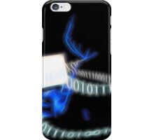 Computer Hacker at Work iPhone Case/Skin
