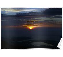 Sunset from Sgurr an Fidhleir Poster