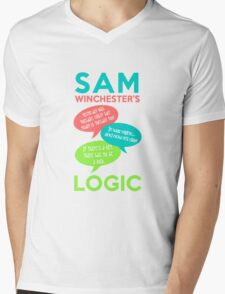 SAM WINCHESTER'S LOGIC Mens V-Neck T-Shirt