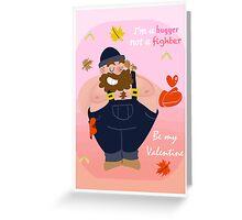 Bear Hugger V-Day Card Greeting Card