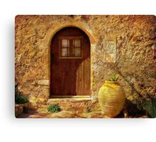Cottage In The Sun Canvas Print