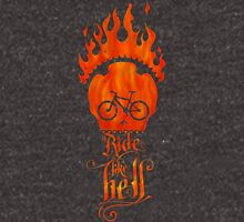 Ride like Hell Calligraphic cycling poster Unisex T-Shirt