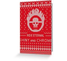 Mad Max Ugly Sweater Design Greeting Card