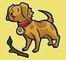 Dog Playing Fetch Kids Tee