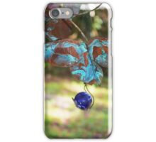 Patina Butterfly with Blue Marble iPhone Case/Skin