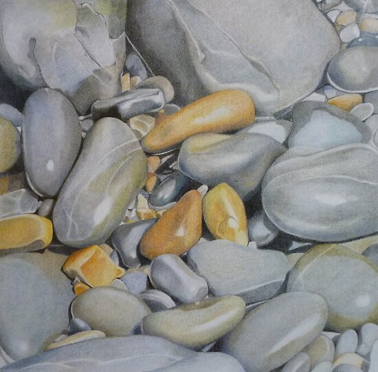 Pebble Study II by April Jarocka