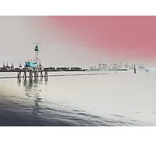 Hamburg Harbour - Guard of the Elbe - Altona Fischmarket Photographic Print
