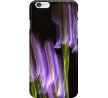 Abstract Motion Blur Flowers iPhone Case/Skin
