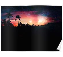 Galactic Sunset Poster
