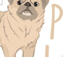 Crazy Pug Lady Sticker
