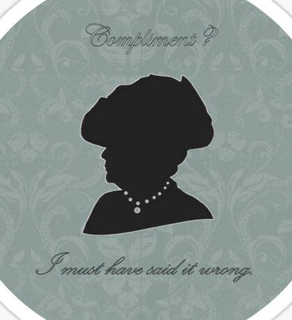 Violet Crawley Sticker