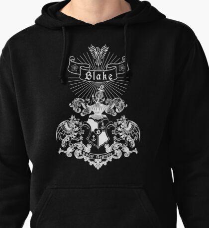 BLAKE family crest, original design - white ink Pullover Hoodie