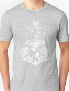 BLAKE family crest, original design - white ink Unisex T-Shirt