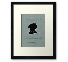 Violet Crawley Framed Print