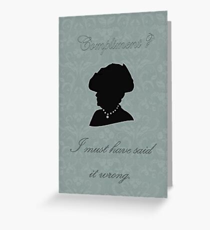 Violet Crawley Greeting Card