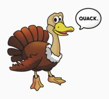 """Turkey in Disguise - """"Quack"""" Kids Clothes"""