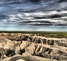 Rain Comes to the Badlands by Scott Hendricks