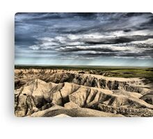 Rain Comes to the Badlands Canvas Print