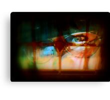 Stain Glass Window Abstract Canvas Print