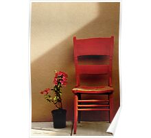 Flower and Chair Poster
