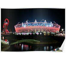Olympic Stadium in Stratford Poster