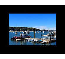 At The Dock - Northport, New York Photographic Print