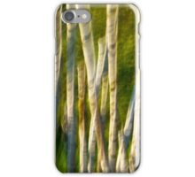 Abstract Motion Blur Trees Forest iPhone Case/Skin