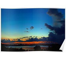 Exotic hometown sky Poster