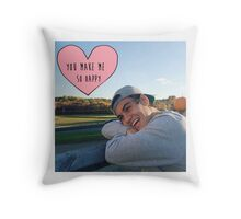 Ethan Dolan you make me so happy Throw Pillow