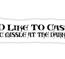 Cast Magic Missile Sticker