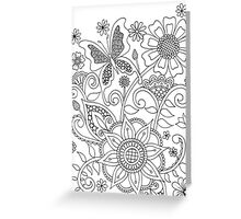 Butterflies and Flowers (I)  Greeting Card
