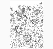 Butterflies and Flowers (I)  Kids Tee