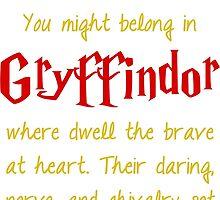 Gryffindor by princessbedelia
