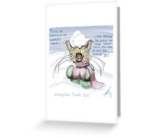 Muriel the comfort chinchilla  Greeting Card