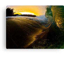 Sunset monster Canvas Print