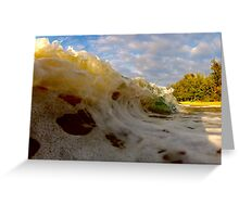 Frothy wave Greeting Card