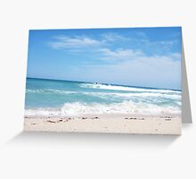 Perfect Wave 17 - With Unknown Surfer 10 10 12 Greeting Card
