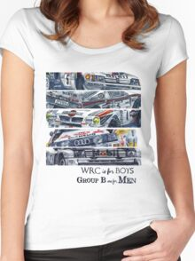 WRC is for boys, Group B was for men Women's Fitted Scoop T-Shirt