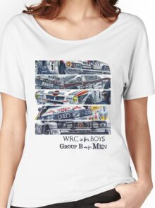 WRC is for boys, Group B was for men Women's Relaxed Fit T-Shirt